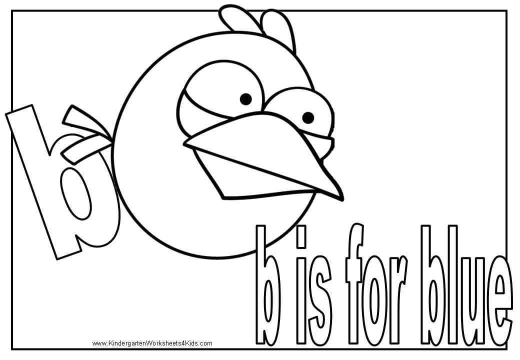 Letter B Coloring Pages For Preschoolers : Angry birds alphabet coloring pages