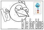 Letter B Coloring Worksheet