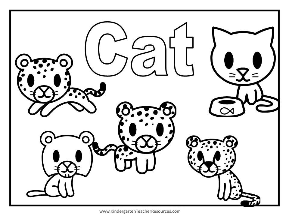 Animal coloring pages for Cat coloring pages for toddlers