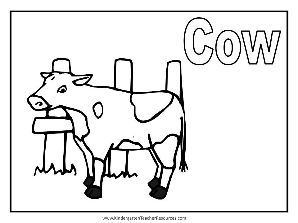 Animal coloring pages for Cow coloring pages