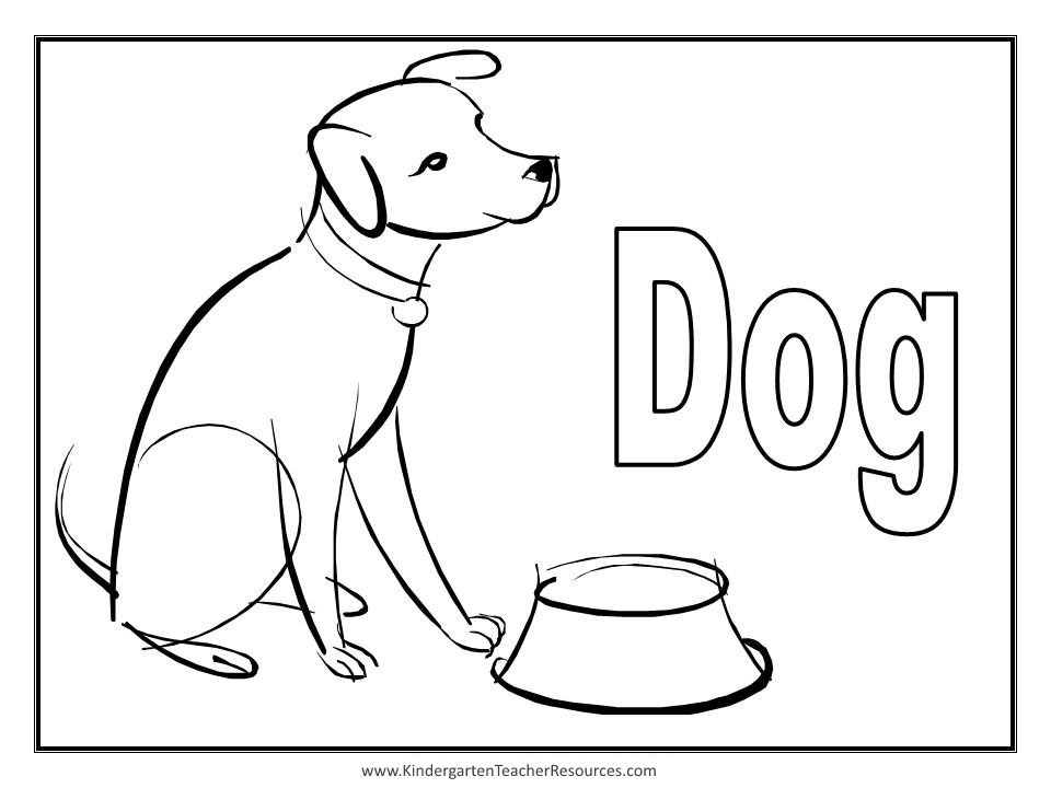 coloring page of dogs - animal coloring pages