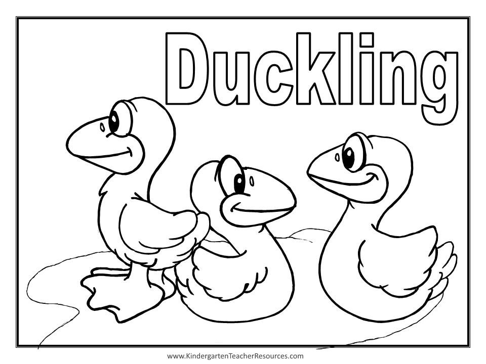 ugly duckling coloring page - photo #20