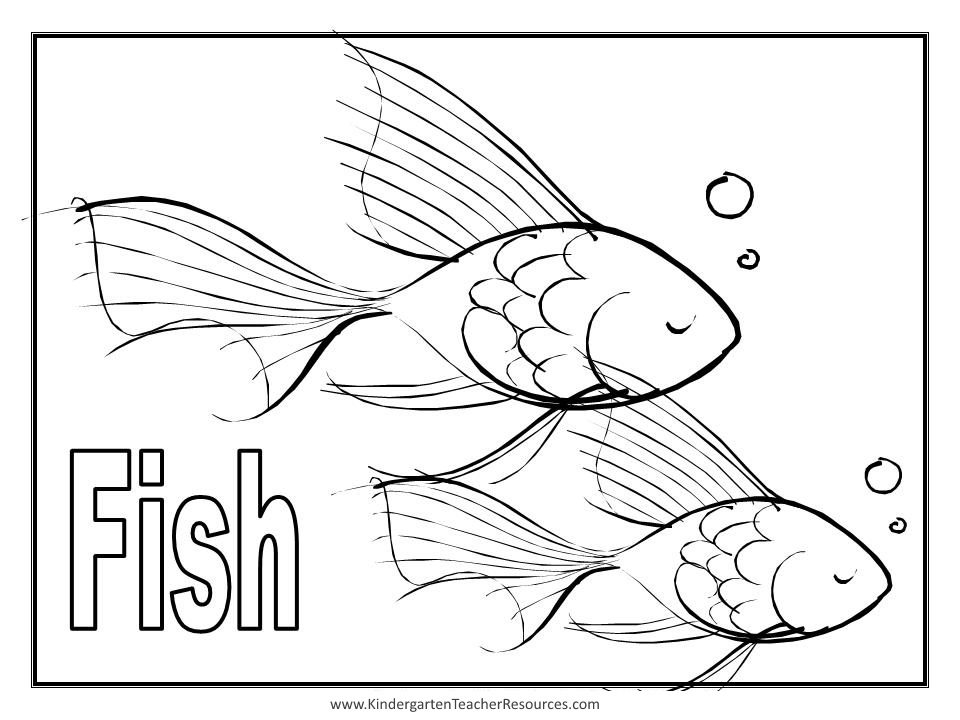 Free Coloring Pages Of Fish Show