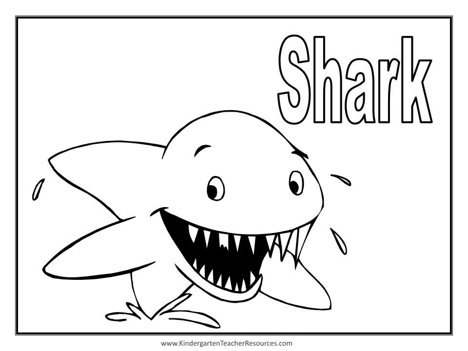 Animal coloring pages for Free printable shark coloring pages