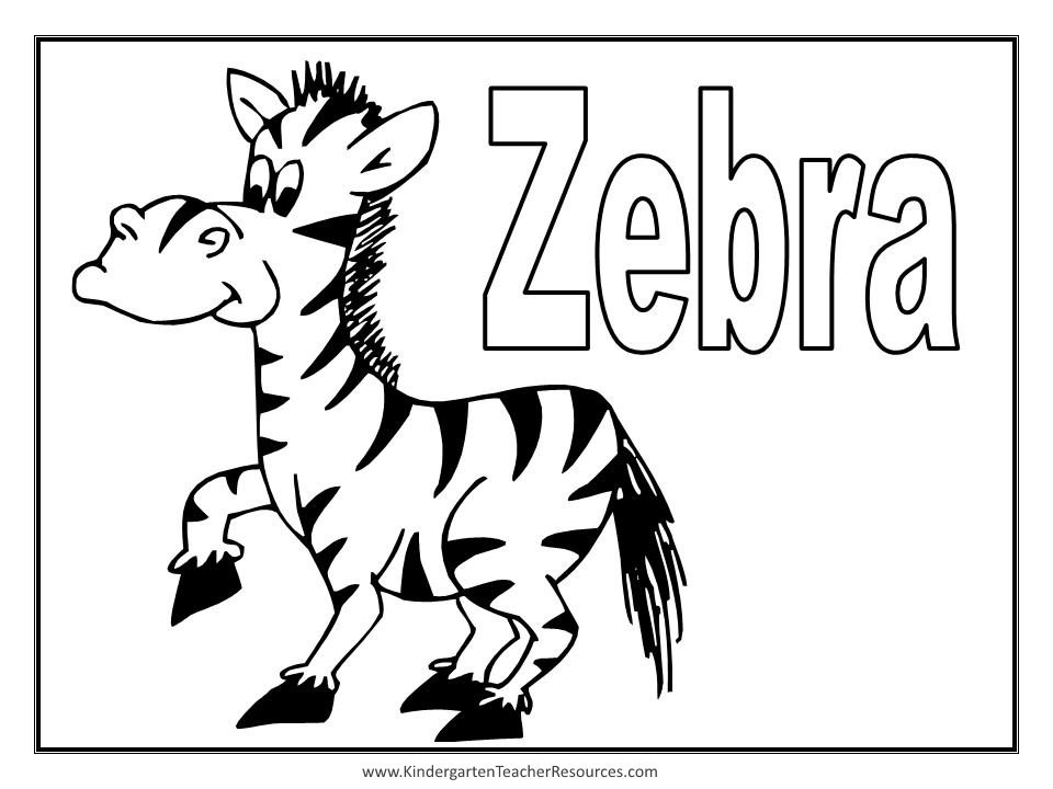 Animal coloring pages Coloring book zebra