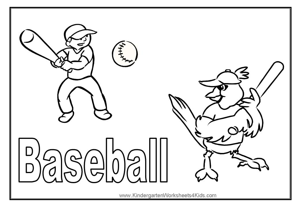Sport coloring pages for Coloring pages of baseball