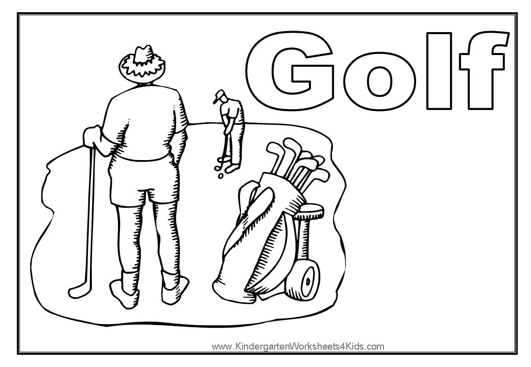 golf coloring page
