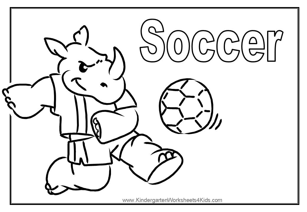 Coloring Book Soccer Coloring Coloring Pages
