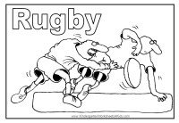 Rugby Coloring Page