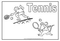 Tennis Coloring Page