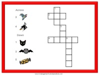 Printable Halloween crossword