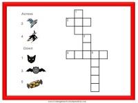 Printable Halloween crossword