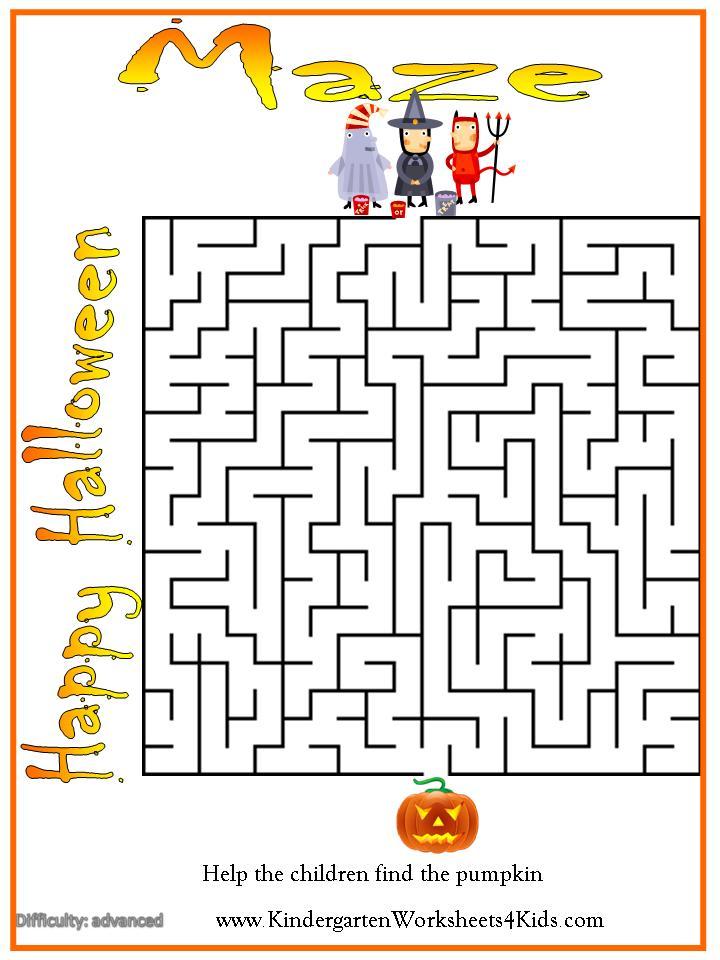 Halloween Worksheets Games Activities