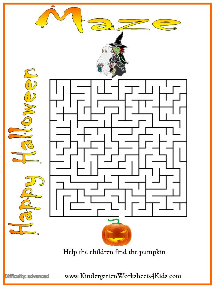 Halloween Worksheets Games Activities and Printables – Halloween Worksheets for Kindergarten