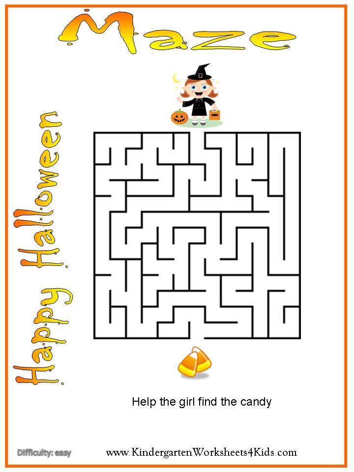 Halloween Worksheets, Games, Activities and Printables