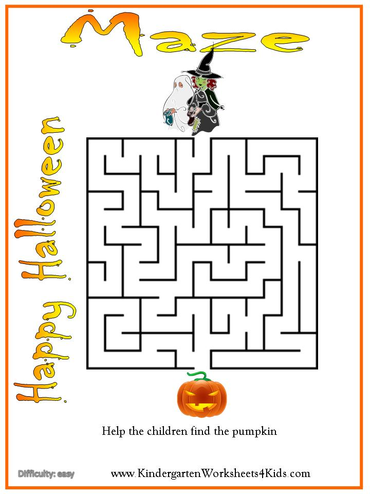 Halloween Worksheets, Games, Activities and Printables