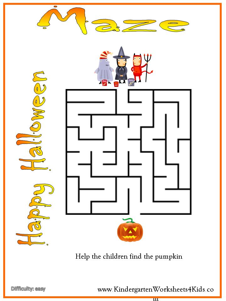 Free Printable Halloween Worksheets Kindergarten - 7 best images of opposites worksheet trace ...