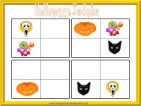 free printable Halloween sudoku for kids