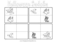 free printable Halloween sudoku game