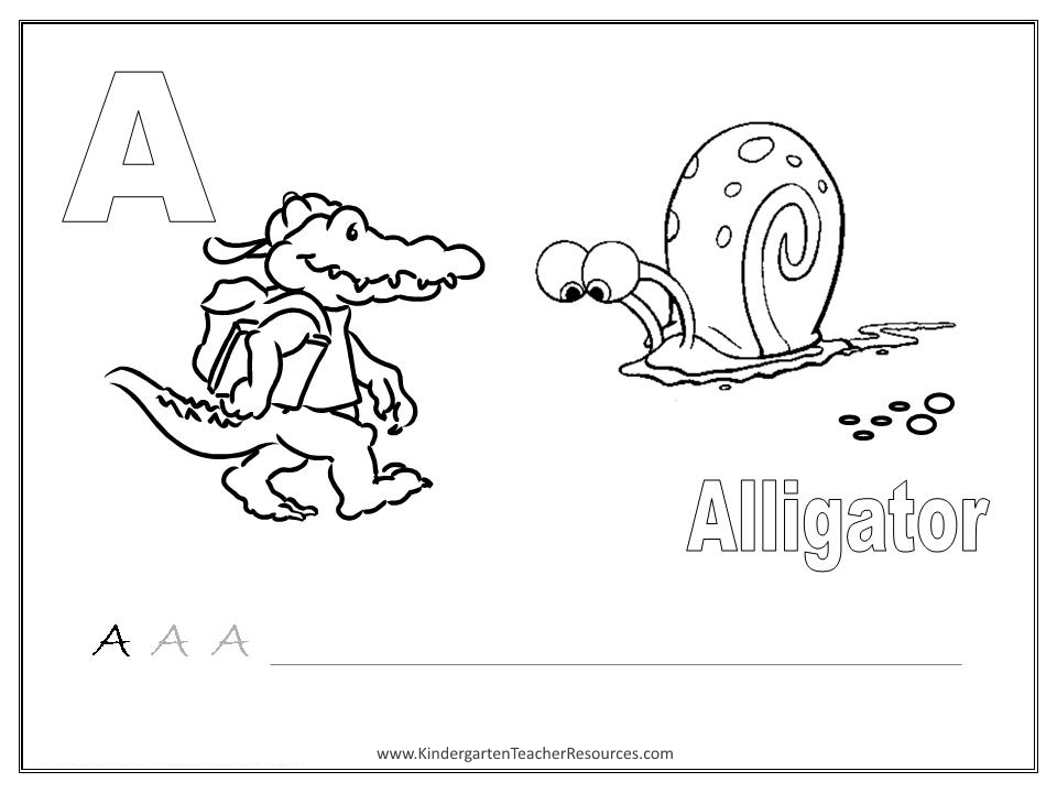 Letter A Worksheets And Activities