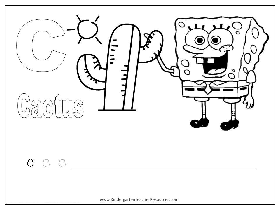 Spongebob Alphabet Worksheets Uppercase Letters. Alphabet Coloring Pages. Kindergarten. Uppercase Alphabet Worksheets For Kindergarten At Clickcart.co