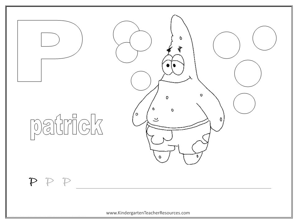 math worksheet : spongebob alphabet worksheets  lowercase letters : Letter P Worksheets For Kindergarten