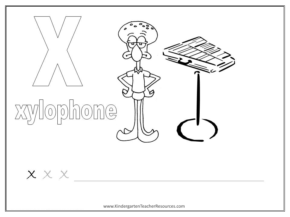 Worksheets X Pictures For Kindergarten spongebob alphabet worksheets lowercase letters coloring pages