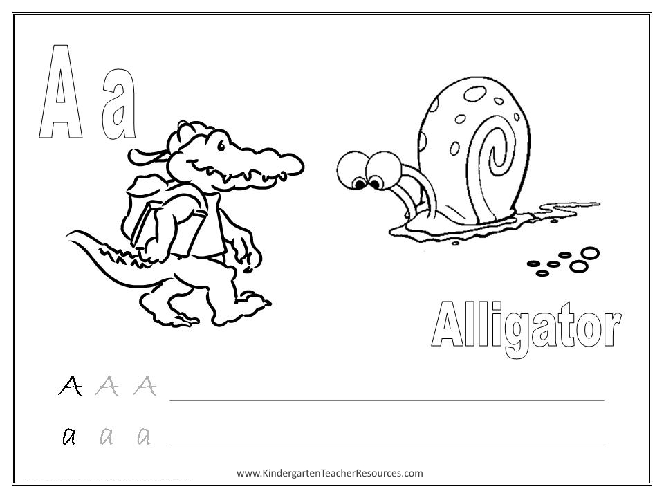 Letter A Worksheets and Activities – Kindergarten Letter a Worksheets