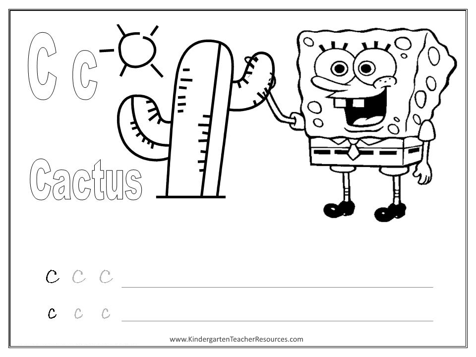 Letter C Worksheets And Activities