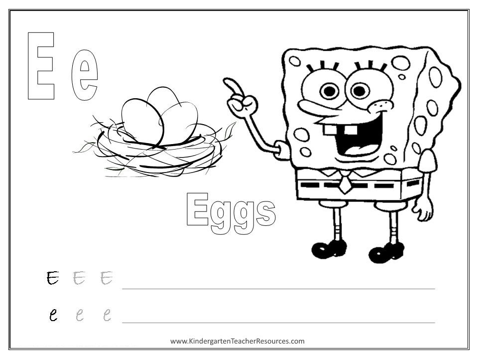 SpongeBob Alphabet Worksheets Uppercase and Lowercase – Free Printable Kindergarten Alphabet Worksheets