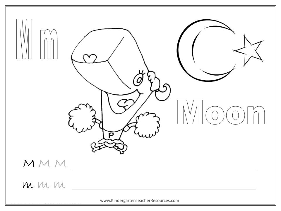 Kindergarten Worksheets Letter M kids under 7 letter m – Letter M Worksheet Kindergarten
