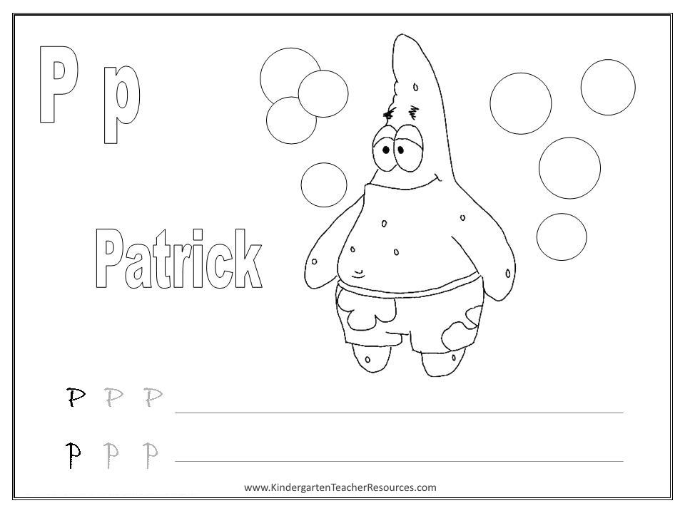 Abc Worksheets For Kindergarten : Spongebob alphabet worksheets uppercase and lowercase