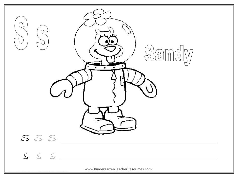 math worksheet : spongebob alphabet worksheets  uppercase and lowercase : Letter S Worksheets For Kindergarten