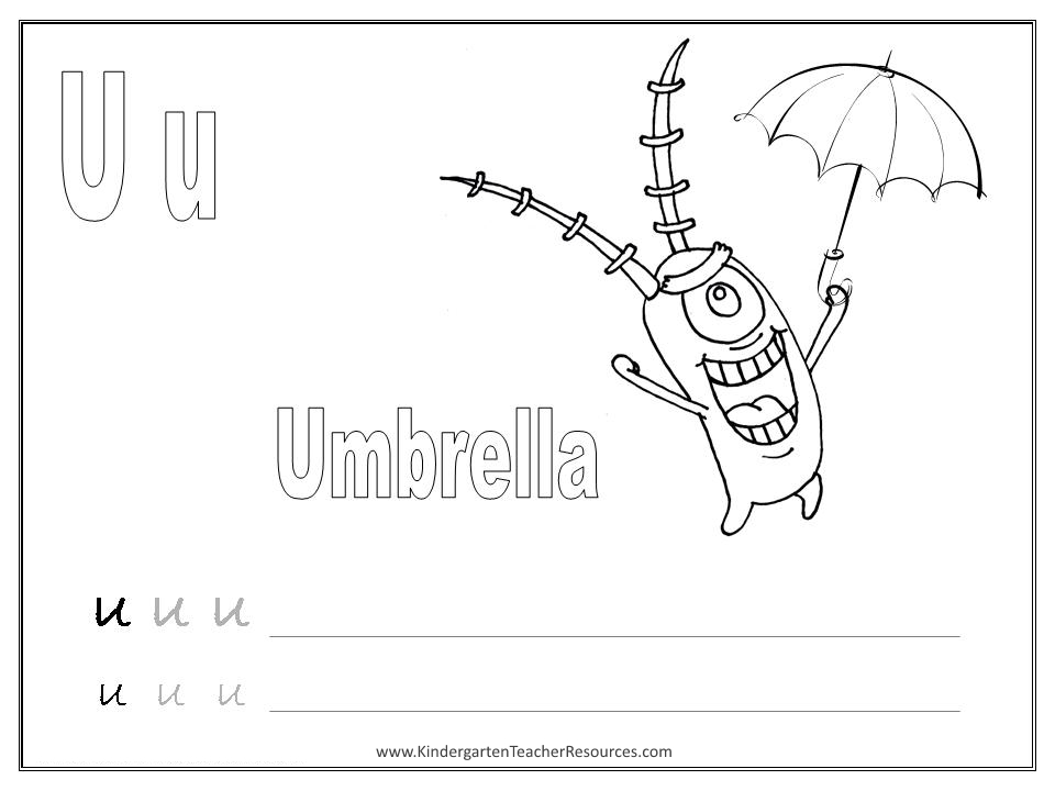 SpongeBob Alphabet Worksheets