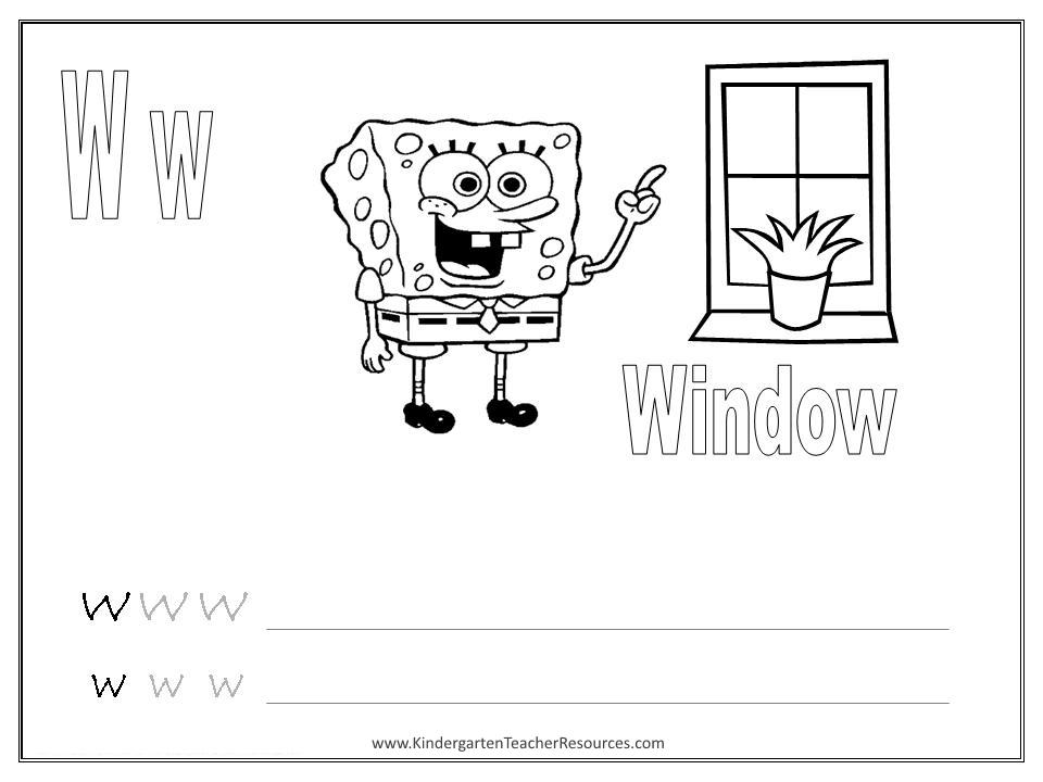 Letter Y Worksheets Kindergarten – W Worksheets for Kindergarten