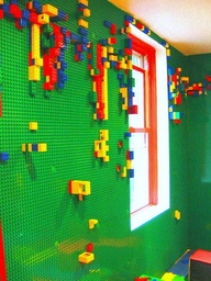 lego on a wall