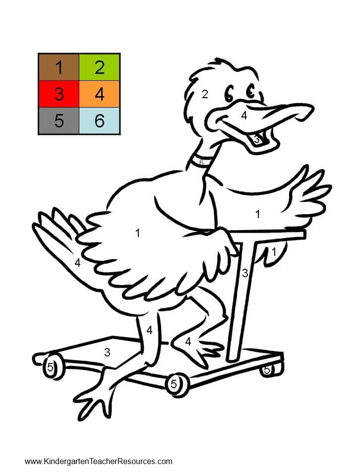 Worksheet. Duck Color by number worksheets