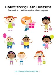 The worksheets in this section are designed to help kindergarteners: