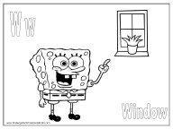SpongeBob Alphabet Coloring Pages – R to Z