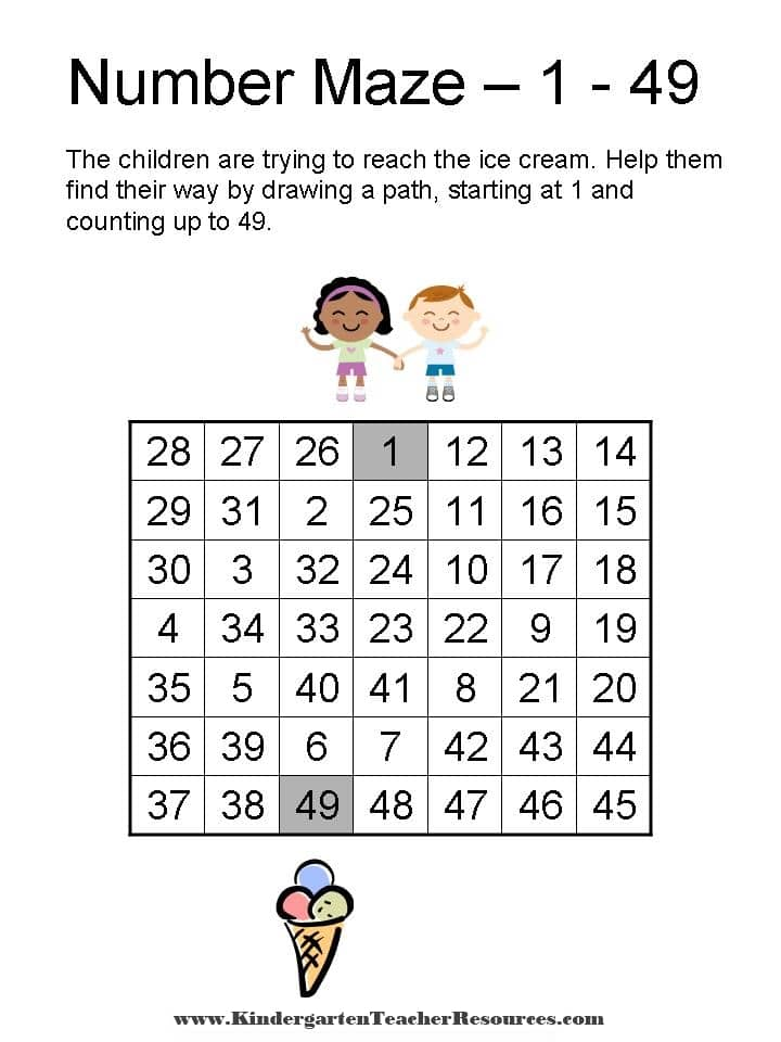 Number Maze From 1 16