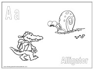 letter a coloring sheet