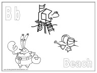coloring pages - letter B