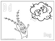 alphabet coloring pages - letter D