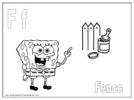 alphabet coloring pages - letter F