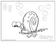 alphabet coloring pages - letter G