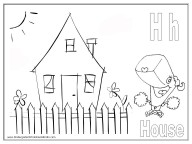 alphabet coloring pages - letter H