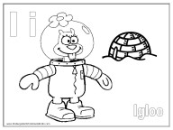 Alphabet Coloring Page - I