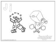 Alphabet Coloring Page - J