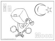 Alphabet Coloring Page - M