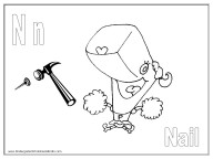 Alphabet Coloring Page - N